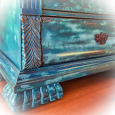 Large Dresser, Vintage, Blue, Tall, French, Shabby Chic, Dresser, Antique Style