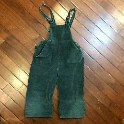 Green Corduroy Vintage 50s Boys 12-24 Mo Faded Farm Work Overalls