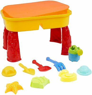 Sand and Water Table Sandpit Indoor Toys Kids Children Play Toy Set Lid Activity