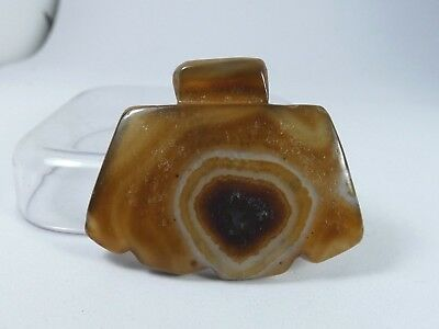 Ancient Ax Head Bactrian Eye Agate Pendant ,Old Banded Agate Pendant |Ancient