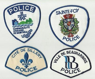 Sillery / C.U.M. / Beauharnois / Sainte-Foy (QUEBEC) Police Patches