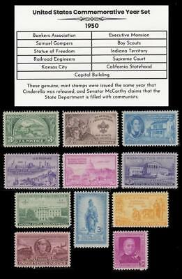 1950 US Postage Stamps Complete Commemorative Year Set Mint