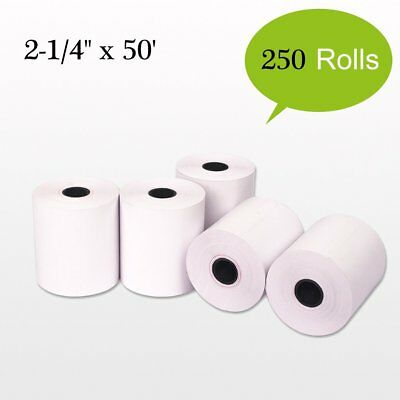 """250 Roll 2-1/4""""x50' Terminal Receipt Thermal Paper POS Cash Register Credit Card"""