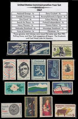 1967 US Postage Stamps Complete Commemorative Year Set Mint