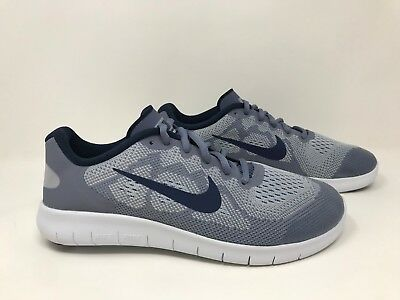 hot sale online e1051 add3d NEW! BOY'S (YOUTH) Nike 904255-005 Free RN 2017 Running Shoes - Wolf  Gry/Nvy S68