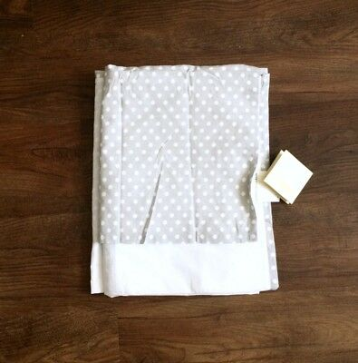 POTTERY BARN Kids NWT $79 Gray polka dots Crib Skirt