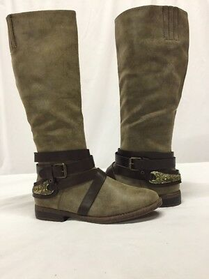 Rampage ISADORA Women's Boots Brown Almond High Riding Size 7 M