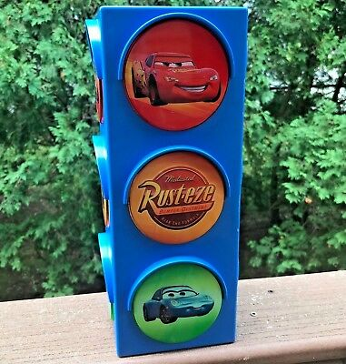 Pixar Cars Disney Traffic Stop Light Night Light Steve Mcqueen Red Yellow Green