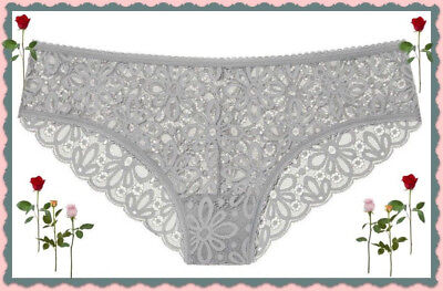 XL Grey Oasis THE LACIE All Lace Daisy Cheeky Lowrise Victorias Secret Pantie