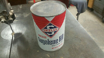 Vintage Skelly Tagolene  motor oil can FULL