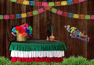 Mexican Table Skirt Polyester 6'Ft For any special event