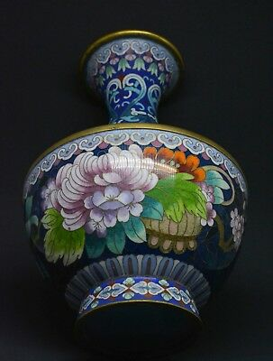 Vintage Chinese Cloisonne Vase ~ 10 Inches Tall ~