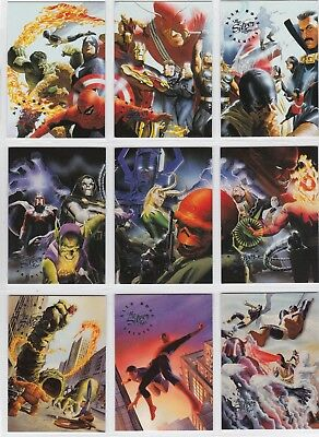 1998 Marvel Silver Age ALEX ROSS SALUTES Set ~ Spider-Man, X-Men, Fantastic Four