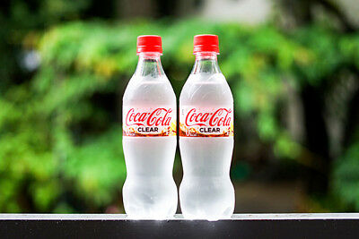 2 set of Coca Cola Clear Transparent limited Japan  500ml  0kcal Fruit juice 1%
