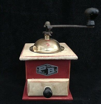 Vintage PB Macina Acciaio Coffee Mill Grinder / Made in Italy 1950s