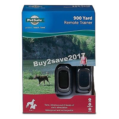 PETSAFE 900 Yard Remote Trainer Rechargeable, Waterproof, Tone/Vibration 8 lb up