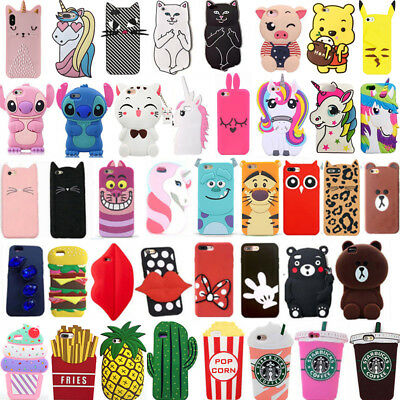 For Samsung S6 S7 S8 S9 S10 Plus Soft Silicone Cute Cartoon Hot Phone Case Cover