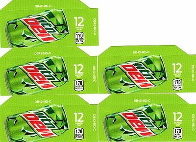 Mtn Dew Labels 5 Small 12oz Can Mountain Dew Soda Vending Calories Flavor Labels