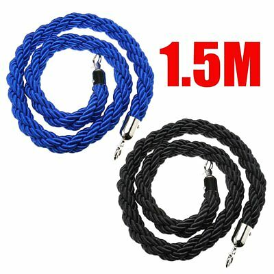 1.5M Queue Barriers Rope Divider Crowd Control Bollards Stanchion Barrier Stand
