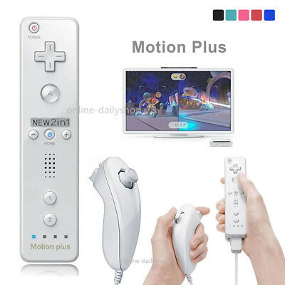 Built in Motion Plus Remote Control Nunchuck Controller for Nintendo Wii&Wii U