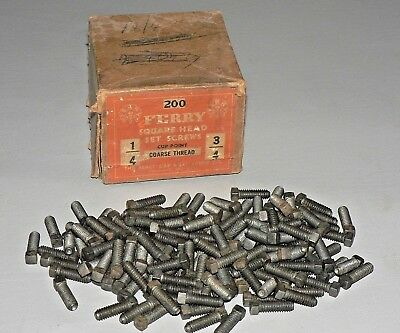 Vtg Ferry Square Head Set Screws Cup Point Unused Lot of 138