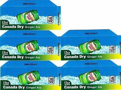 Canada Dry Ginger Ale Labels 5 Small 12oz Can Vending Machine Calories Labels