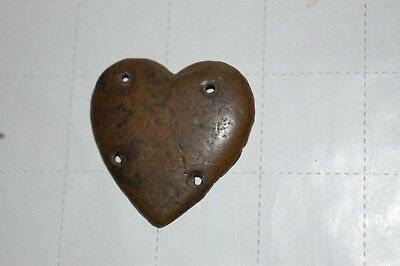 Civil War Heart Shaped Copper Campaign Identification Badge