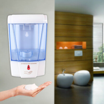 600ml Automatic Soap Sanitizer Dispenser With IR Sensor For Kitchen Bathroom Hot
