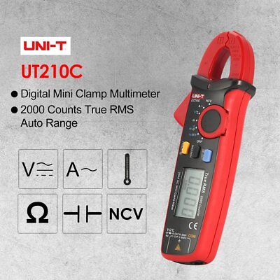 UNI-T UT210C Mini Digital Clamp Multimeter True RMS Auto Range DC/AC Voltage AZ