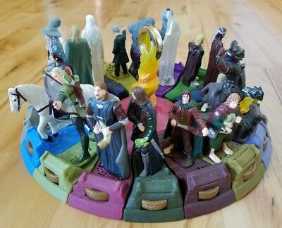 Lord of the Rings 2001 Burger King Figures Complete set of 19 pieces Big Kid