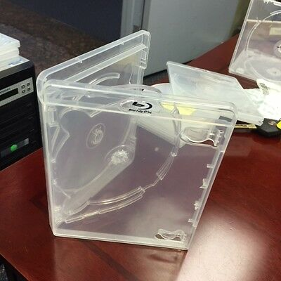 Blu Ray case clear Triple disc with clear tray 100 units New