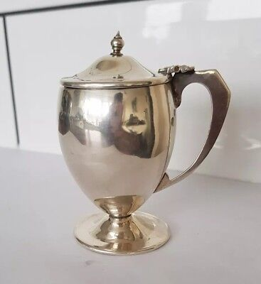 sterling SILVER sheffield 1929 CB&S SALT mustard pot JAR 38.1g 4.5cm x 8.5cm