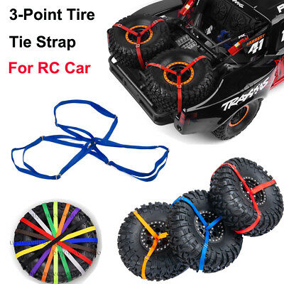 1/7 RC 3-Point Spare Tire Tie Down Strap For Traxxas Unlimited Desert Racer UDR