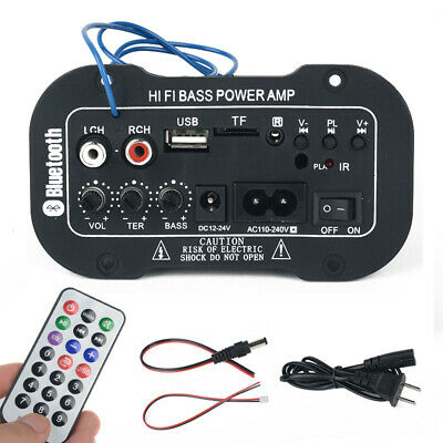 220V 50W Auto Bluetooth HiFi Bass Audio AMP Amplificatore Digitale Telecomando