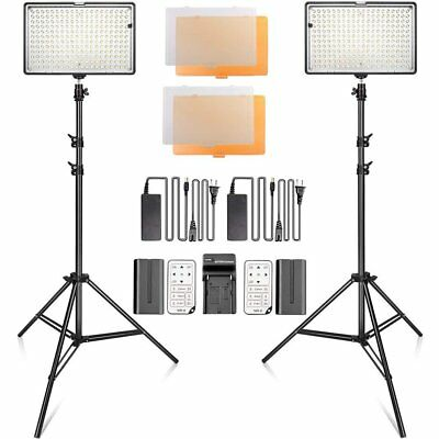 SAMTIAN LED Video Light Kit with Stand LED Panel Set with Tripod and 240pcs 3...