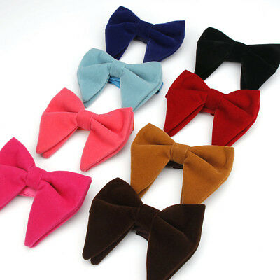 Men Groom Bow Tie Colored  Necktie Thicken Large For Wedding Party Suit Best Man