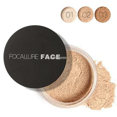 Women Rice Powder with Puff Translucent Face Cosmetic Pro Make up Powder