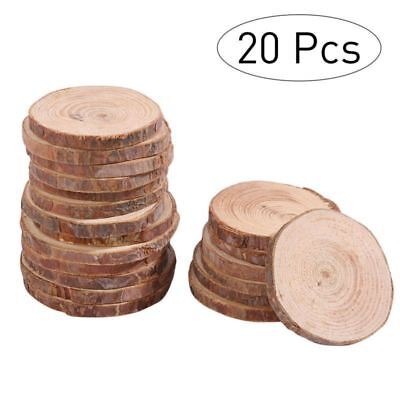 20pcs 5-6CM Wood Log Slices Discs for DIY Craft Wedding Centerpieces Wood Color