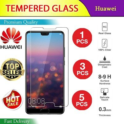 5 Pcs TEMPERED GLASS SCREEN PROTECTOR COVER  HUAWEI P Smart/P20 Pro/LITE /P9 P10