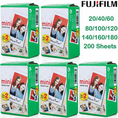 Fujifilm Instax Mini Instant Film 100 Sheet White for SP1 Mini 8 7S 25 90 Fuji S
