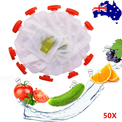 50Pcs Baby Liquid  Food Storage Bag For Fresh Squeezed Station AU Stock