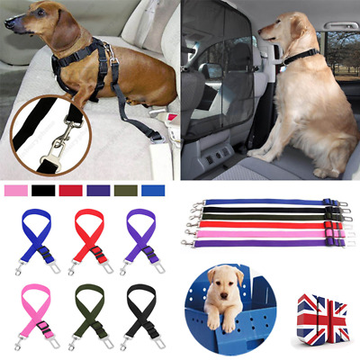 Adjustable Dog Pet Car Safety Seat Belt Strap Harness Travel Lead Restraint Clip