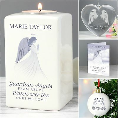 Personalised Guardian Angel Memorial Remembrance Keepsake Gifts In Loving Memory