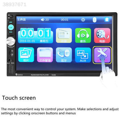 """7"""" Double DIN For Car Truck MP5 Bluetooth Touch Screen Rearview Camera 70101B*"""