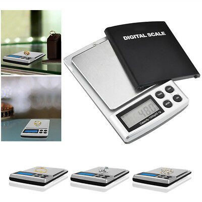 Digital Scales High-Precision Pocket Jewelry Pro Scales 1000g/0.1g 500g/0.01g UK