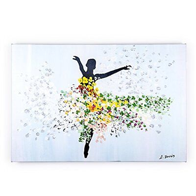 Abstract 3D Oil Painting Dance Home Decor Canvas Art wood frame Hand Drawing