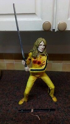 """Neca 18"""" Kill Bill The Bride Yellow Jump Suit With Sound Effects And Sword"""