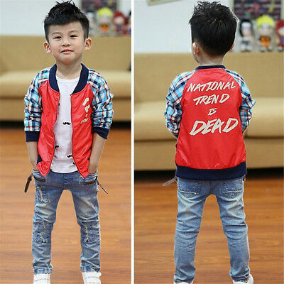 Children Boys Cool Jeans Strench Skinny Trousers Patch Fashion Jeans Pants