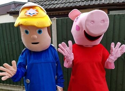 Adults Peppa Pig Or Fireman Sam Mascot Costume Hire Party Events In Leicester