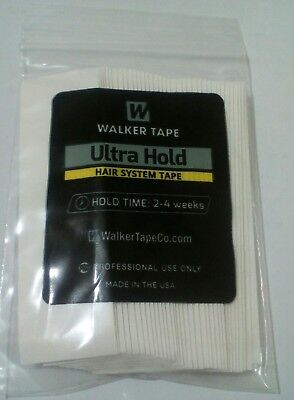 """Walker Ultra Hold Tape Straight Strip Wigs and Toupees 1""""x 3 yards (36 Pcs)"""